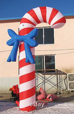 5m/16.4'H-Air Blown/ Inflatable Candy Cane Christmas Crutch Arch Advertising