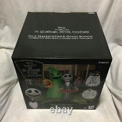 6.5 Ft. Nightmare Before Christmas Oogie Boogie & Jack Skellington Inflatable
