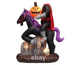 6.7 Foot Tall Halloween Inflatable Headless Horse Pumpkin Yard Decoration Blowup