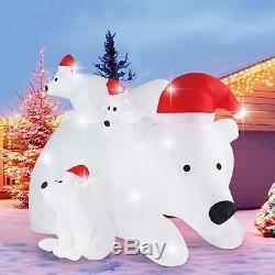 6 FT Christmas Inflatable Polar Bear Family LED Lighted Blow-Up Airblown Yard