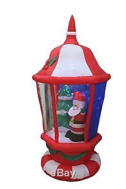 6 Foot Christmas Inflatable Lantern & Santa Claus X'mas tree Outdoor Decoration