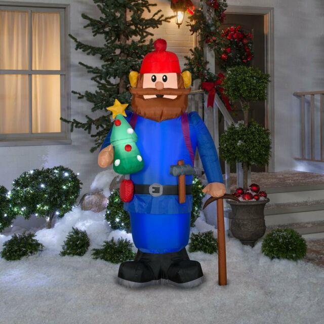 6 Ft Yukon Cornelius Airblown Lighted Yard Inflatable Rudolph