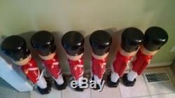 6 General Foam 31 Toy Soldier Nutcracker Blow Molds, Black Hat Blow Mold