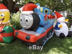 6' Long Thomas the Train Lighted Christmas Inflatable Airblown Blow up FREE SHIP