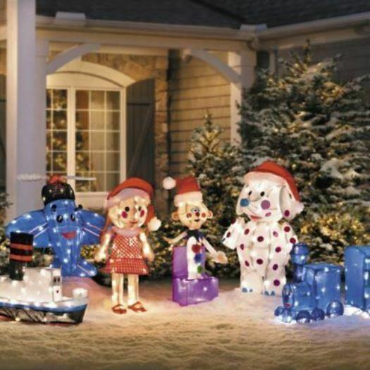 6 Pc Pre Lit Rudolph Tinsel Island Of Misfit Toys Outdoor Christmas Decor