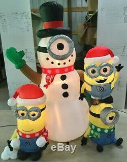 6ft Gemmy Airblown Inflatable Prototype Christmas Minions Building Snowman#15241