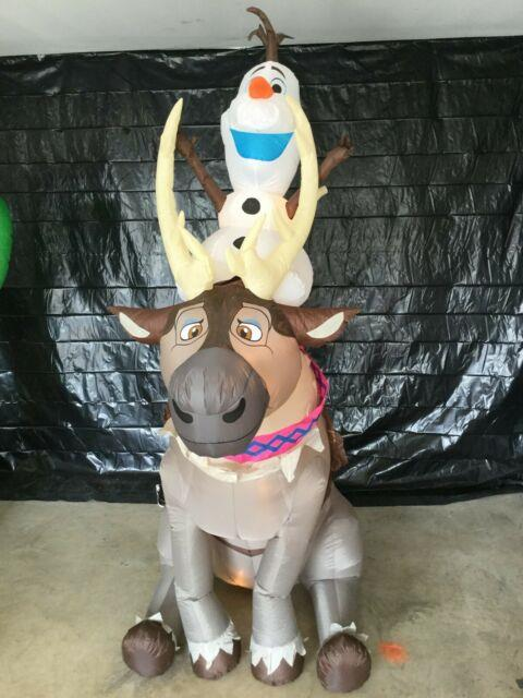 7ft Gemmy Airblown Inflatable Prototype Christmas Frozen Olaf & Sven #11431