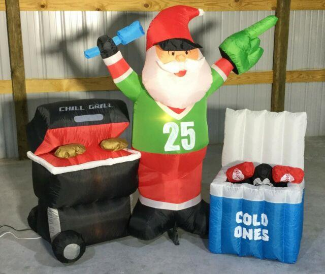 7ft Gemmy Airblown Inflatable Prototype Christmas Tailgating Scene #36863