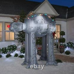 8.5 Ft STAR WARS AT-AT WALKER WITH ANTLERS Airblown Lighted Yard Inflatable