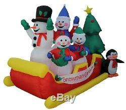 8 Foot Christmas Inflatable Snowman Snowmen Sleigh Penguin Tree Yard Decoration