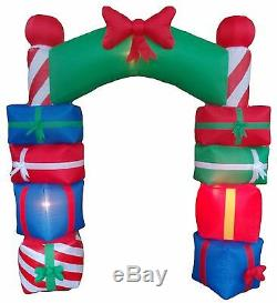 8 Foot Tall Christmas Holiday Inflatable Gift Boxes Archway Arch Yard Decoration