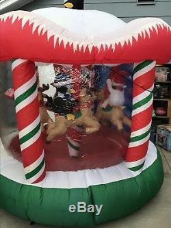 8 Ft Gemmy Inflatable Animated and Lighted Christmas Carousel
