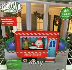 8 Ft Santa Camper Gemmy Airblown Christmas Inflatable