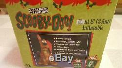 8' Tall Gemmy Lighted Christmas Scooby Doo as Santa Airblown Inflatable