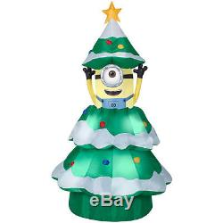 84-inch Animated Minion Poping out of Christmas Tree Yard Decoration by Gemmy