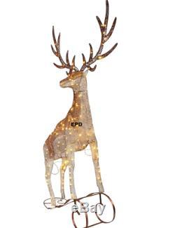88 HUGE Christmas Lighted Reindeer Elk Antlers Yard Decor Sculpture Display