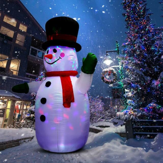 8ft Inflatable Snowman For Christmas And New Year Home Indoor Outdoor Decoration