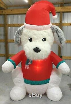 8ft Gemmy Airblown Inflatable Prototype Christmas Fuzzy Plush Dog #112257