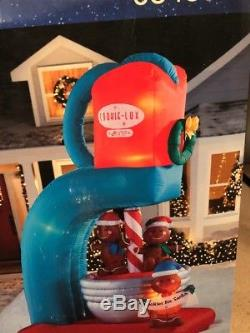 9.5 FT ANIMATED GINGERBREAD COOKIE MIXER Airblown Lighted Yard Inflatable Gemmy