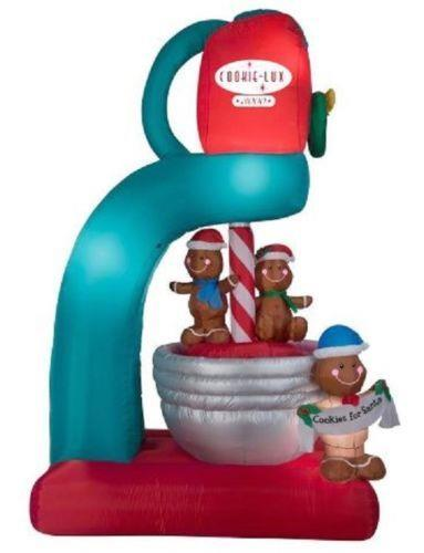 9.5 Ft Animated Gingerbread Cookie Mixer Airblown Yard Inflatable