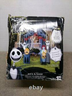 9 FT NIGHTMARE BEFORE CHRISTMAS ARCHWAY Airblown Inflatable JACK SKELLINGTON