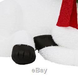 9 FT WHITE BUCK Deer Christmas Airblown Lighted Yard Inflatable PLUSH FUR