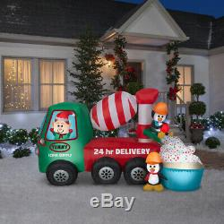 9 Ft ANIMATED CEMENT MIXER Christmas Airblown Inflatable YUMMY ICING SUPPLY CO