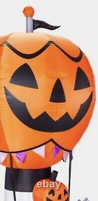 9 Ft Halloween Pumpkin Hot Air Balloon Airblown Inflatable Led Lights Yard Decor