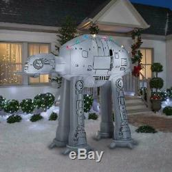 9 Ft STAR WARS AT-AT WALKER with CHRISTMAS LIGHTS GEMMY AIRBLOWN Yard Inflatable