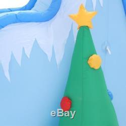 9 ft. Lighted Inflatable Airblown Polar Bears on Slide Scene Christmas Outdoor