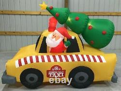 9ft Gemmy Airblown Inflatable Prototype Christmas Santa's Taxi #114641