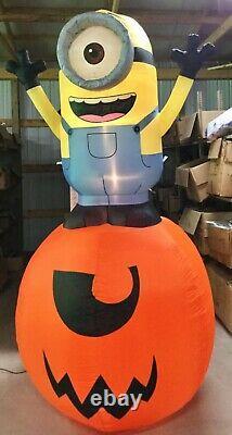 9ft Gemmy Airblown Inflatable Prototype Halloween Minion on Pumpkin #71881