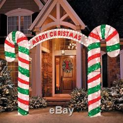 After Christmas Sales Decorations Lighted Merry Candy Cane Archway Outdoor Yard