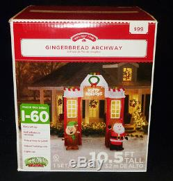 Airblown Inflatable 10.5' Tall Gingerbread Archway Lighted Christmas Decoration