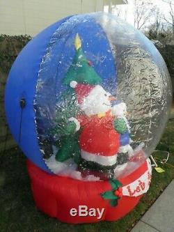 Airblown Inflatable Gemmy 6 Ft Snowman Christmas Tree Snow Globe Let It Snow