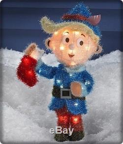 Animated Bumble Rudolph 5 PC. Misfit Island Tinsel Pre Lit Christmas Yard Decor