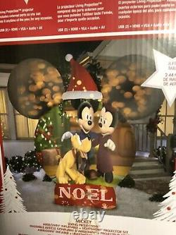Animated Gemmy Disney Mickey Mouse Ears 8ft Projection Christmas Yard Airblown