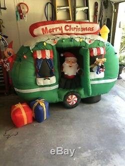 Animated Santa In Camper RV Gemmy Christmas Airblown Inflatable