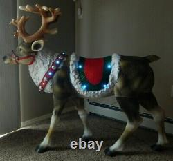 Blow Mold 48 Reindeer Led Lighted Christmas Yard Decoration