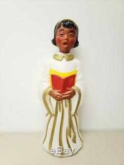 Blow Mold Angel African American Black Christmas Empire 30 Vintage NOS RARE