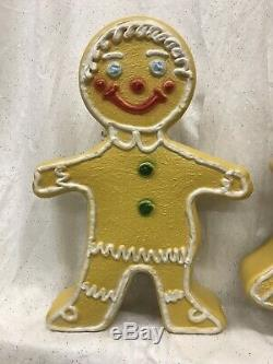 Blow Mold Gingerbread Christmas Collection Tree Girl And Boy Don Featherstone