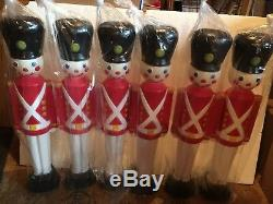 Blow Mold Toy Soldier Light Up Decorations General Foam Lot Of 6