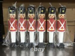 Blow Mold Toy Soldiers Light Up General Foam Christmas Decoration 30 Lot of 6