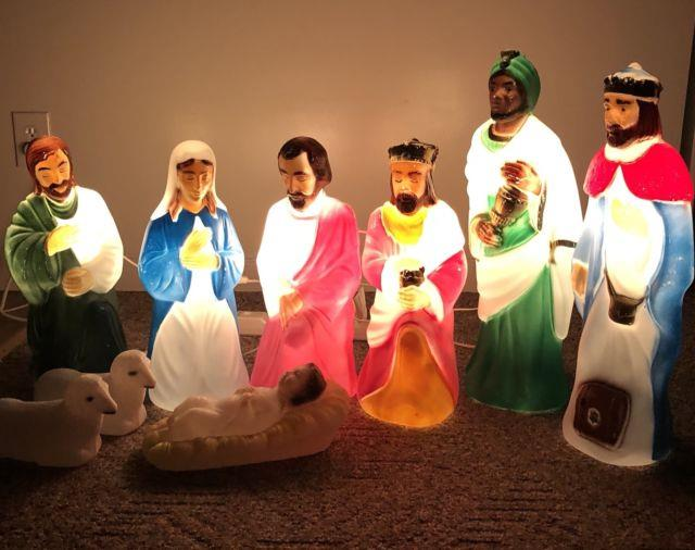 Blow Mold Nativity Set Small Size Nativity9 Figures Super Cute