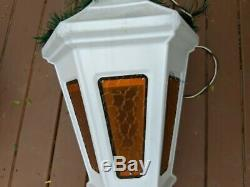 Blow mold RARE industrial light white lantern vintage General decor municipal