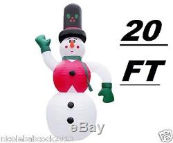 Christmas Huge 20ft Snowman Lighted Inflatable Airblown Yard Decor