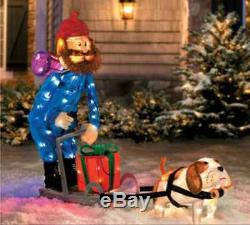 CHRISTMAS OUTDOOR YUKON DOG SLED LIGHT frm Rudolph Reindeer Island Misfit Movie