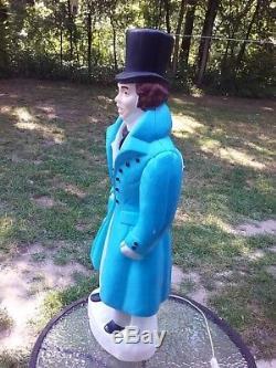 Charles Dickens Man Christmas Caroler 39 Lighted Blow Mold Vintage Rare Empire