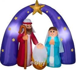 Christmas 6.5 Ft Nativity Scene Jesus Mixed Media Airblown Inflatable Yard Gemmy