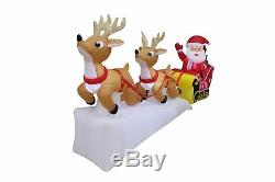 Christmas Air Blown LED Inflatable Yard Garden Decoration Santa Reindeer Sleigh